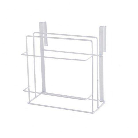 Kitchen Multifunctional Wrought Iron Storage Rack - WHITE