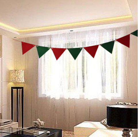 Christmas decorations event party flag flags triangular flags non-woven flanne - RED 8PCS