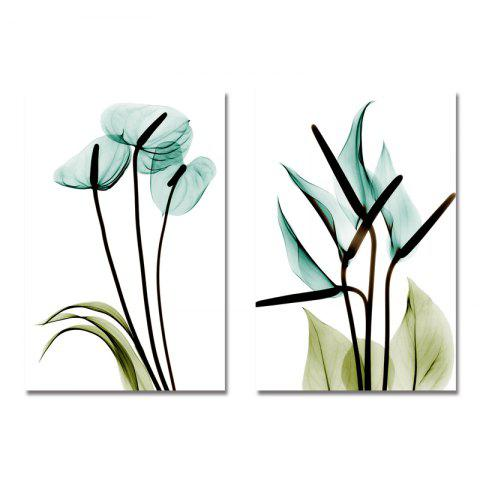 DYC 2PCS Fresh and Elegant Flowers Print Art - multicolor
