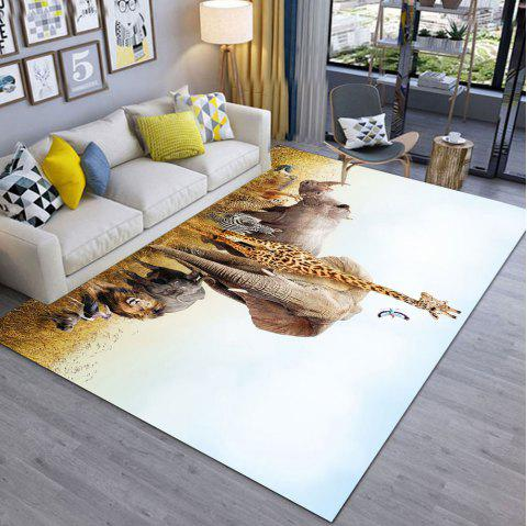 Girafe et hippopotame moderne simple d'impression 3D salon et lit exquis - multicolor A 140X200CM