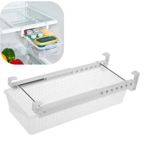Fridge Mate Refrigerator Eggs Fruits Vegetables Pull Out Drawer Bin Storage Box - WHITE