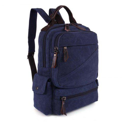 Unisex Backpack Single-shoulder Backpack Dual-use Bag Student Bag - DEEP BLUE