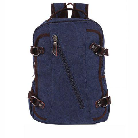 Rucksack Current Backpack For Both Men And Women Student Bags - DEEP BLUE
