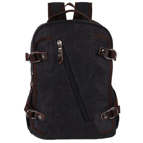 ZUOLUNDUO Rucksack Current Backpack For Both Men And Women Student Bags - BLACK