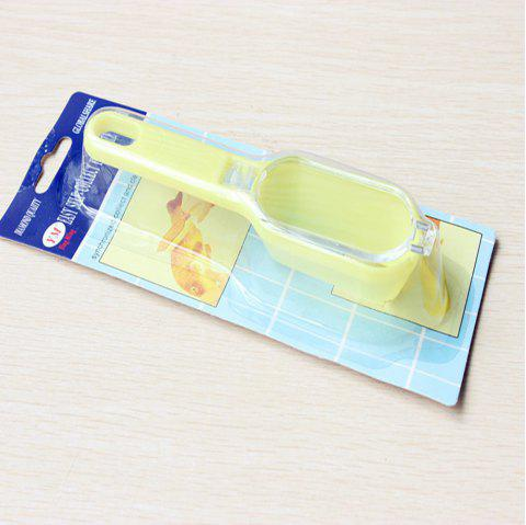 Practical Kitchen Scale Planer with Cover Portable Scale Scraper - YELLOW