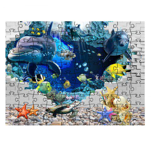 Seaworld Series jigsaw Puzzle Toy - multicolor D