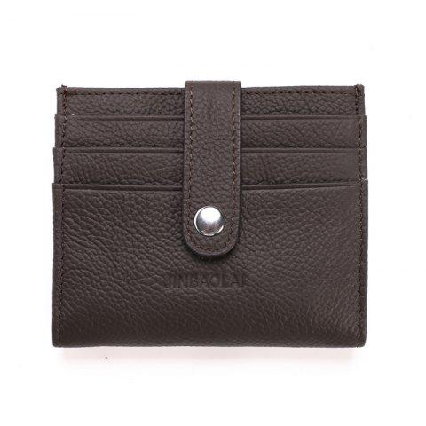 Pattern Bank Card Package Card Holder Travel Leather Credit Card Holder - DEEP COFFEE