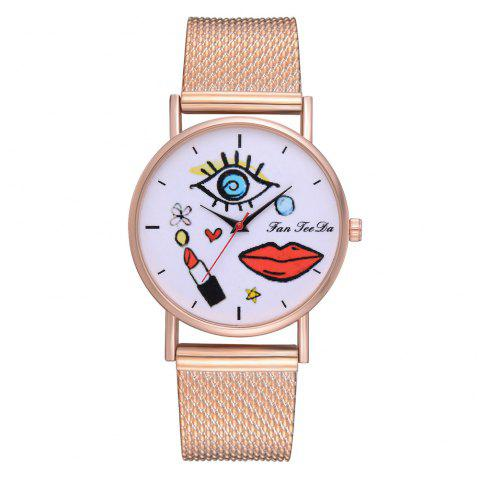 The New Table Hot Fashion Lipstick Rose Gold Quartz Watch - ROSE GOLD