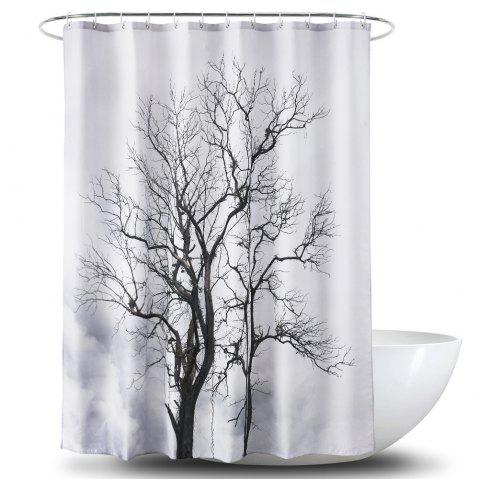 3D Big Tree Printing Polyester PA Coating Waterproof Shower Curtain - multicolor 1.8*1.8M