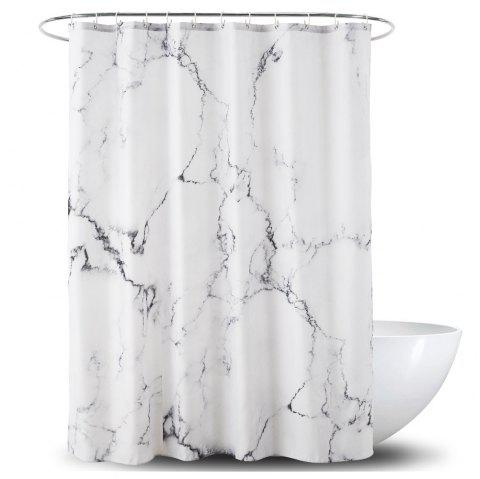 3D Marble Printed Waterproof Polyester PA Coated Shower Curtain - multicolor 1.8*1.8M