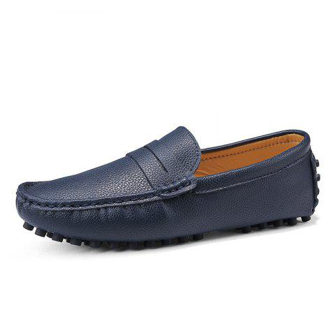 Casual Shoes  Leather Driving loafers - BLUE EU 47