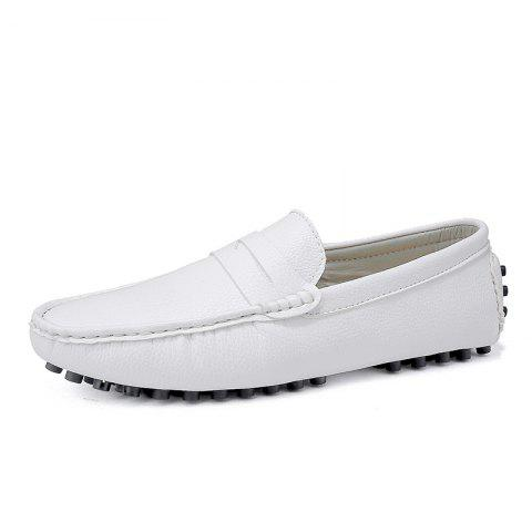 Casual Shoes  Leather Driving loafers - WHITE EU 43