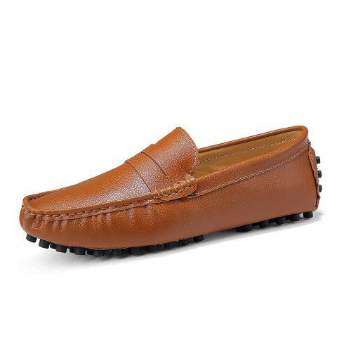 Casual Shoes  Leather Driving loafers - BROWN EU 46