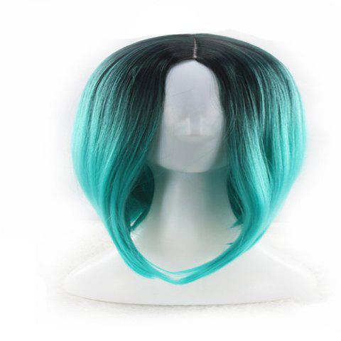 Ms. Gradient Short Straight Hair Wave Head Bobo Head Dyed Female Wig - multicolor D 27 X 16 X 5CM