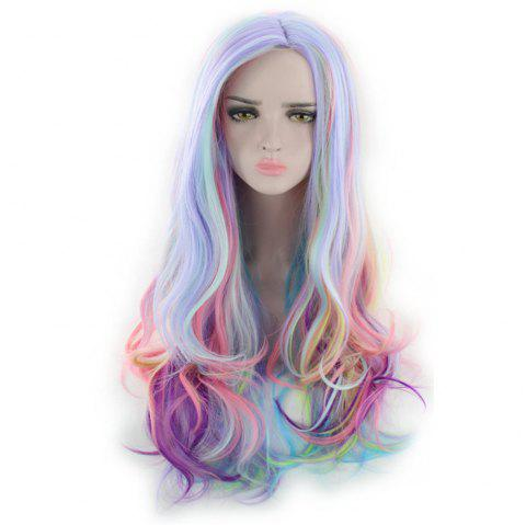 Anime Wig Gradient in Cosplay Long Curly Hair High Temperature Silk - multicolor A 28 X 17 X 5CM