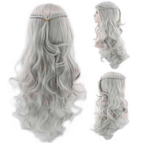 Stylish Cosplay Wig Gold Hair - multicolor B 1 SET