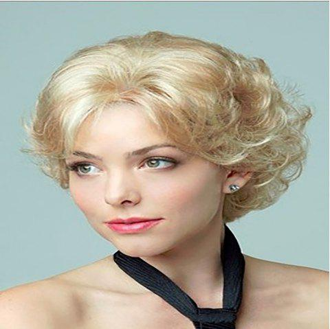 High Temperature Silk Fashion Women Fluffy Short Curly Hair Wig - CHAMPAGNE GOLD