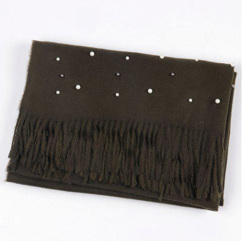 Pearl Bright Lady Scarf Oversize Classic Soft Winter Women Scarf - ARMY GREEN 1PC