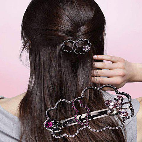 Ornement De Cheveux En Épingle À Cheveux Spring Dew Émotionnel Noble Perceuse À Eau Brillante Crochet - Argent 1PC
