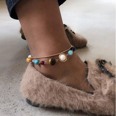 Creative Personality Galaxy Galaxy Double Color Female Anklet - GOLD 1PC