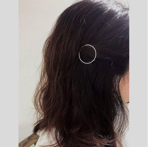 Simple Geometric Round Hair Accessory - SILVER 1PC