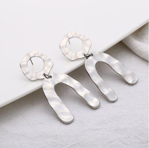 Simple and Simple Alloy U Shaped Earrings - SILVER 1 PAIR