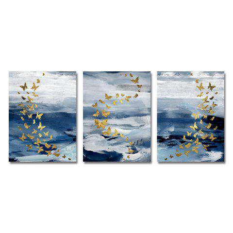 DYC 3PCS Abstract Butterfly Print Art - multicolor