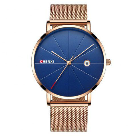 Chenxi 921A Stainless Steel Strap Wristwatch Business Big Dial Quartz Watch - multicolor C