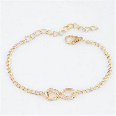 Sweet Fashion Women's Auspicious Figure 8 Bracelet - GOLD