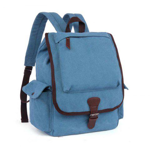 Canvas Schoolbag Stylish Backpack - SKY BLUE