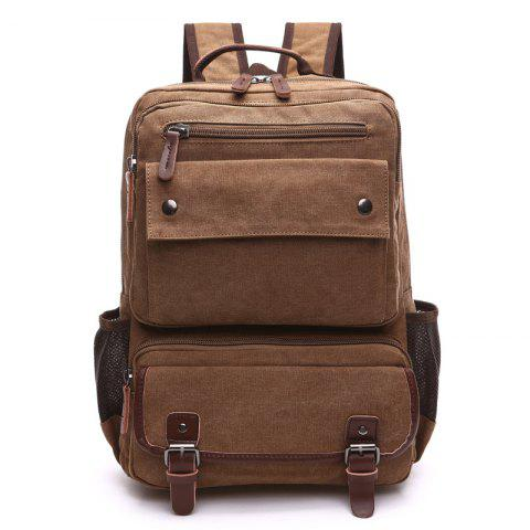 Men Carry Backpacks With Large Capacity For Outdoor Travel - COFFEE