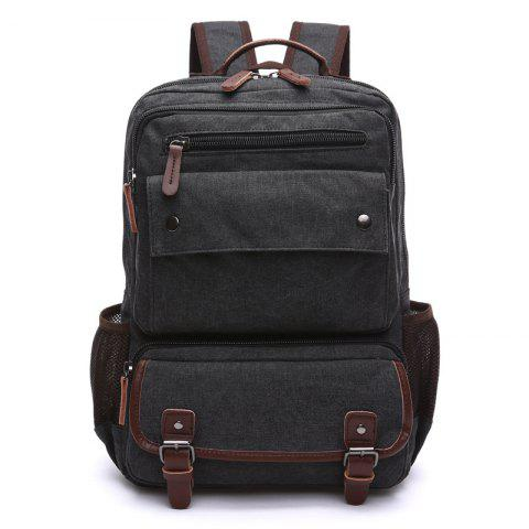 Men Carry Backpacks With Large Capacity For Outdoor Travel - BLACK