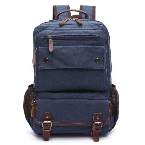 Men Carry Backpacks With Large Capacity For Outdoor Travel - DEEP BLUE