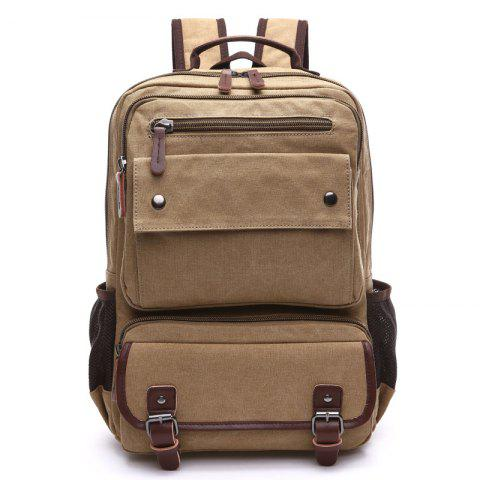 ZUOLUNDUO Men Carry Backpacks With Large Capacity For Outdoor Travel - DARK KHAKI