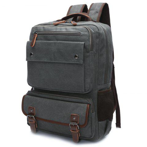 ZUOLUNDUO Men Carry Backpacks With Large Capacity For Outdoor Travel - GRAY