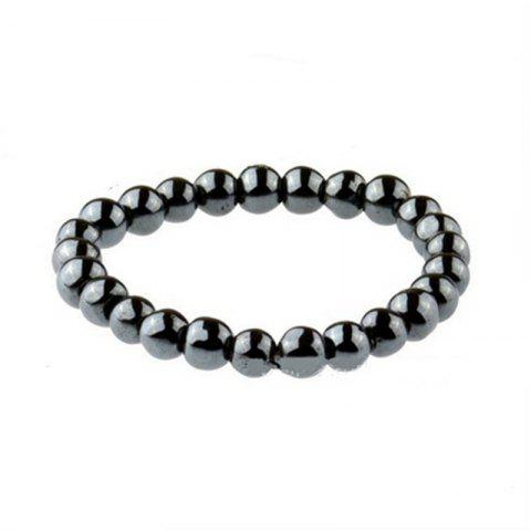 Fashion Simple Men's Round Bracelet - BLACK