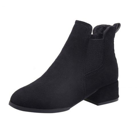 Winter Girl With Medium Heel And Shoe Boots - BLACK EU 38