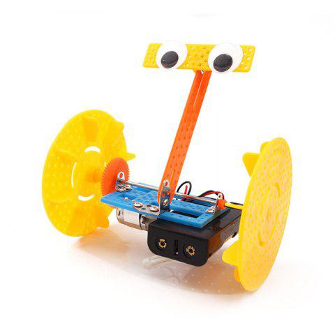 DIY Two Rounds Balance Robot Children Science Education Toy - multicolor