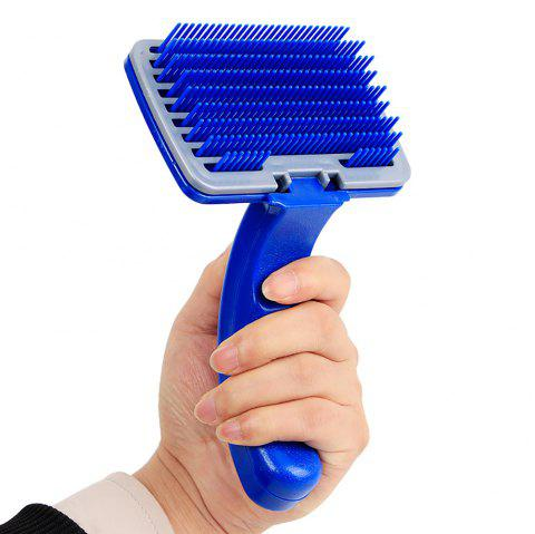 Pet Blue Manually One Key To Clean Comb Cat and Dog According To Touch The Hair - BLUE 10*15*6CM