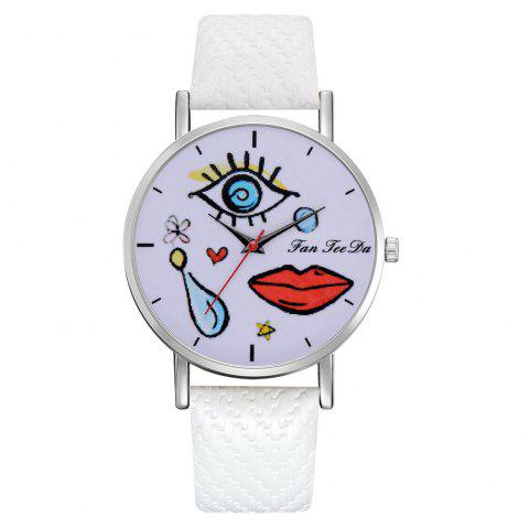 The Fashion Leisure Fashion Leisure Trend Quartz Watch Table Female Students - WHITE