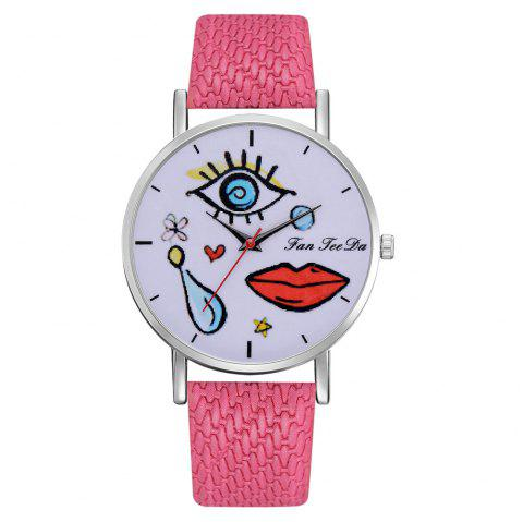 The Fashion Leisure Fashion Leisure Trend Quartz Watch Table Female Students - ROSE RED