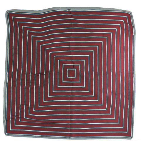 Ma'am Fashion Lmitation Real silk Silk scarf Square Pattern Scarves - RED