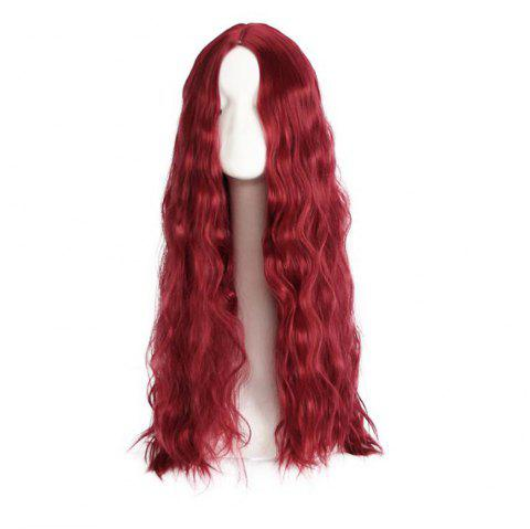 Curly Lady Long Curly Hair for Female Wig Hair - RED WINE
