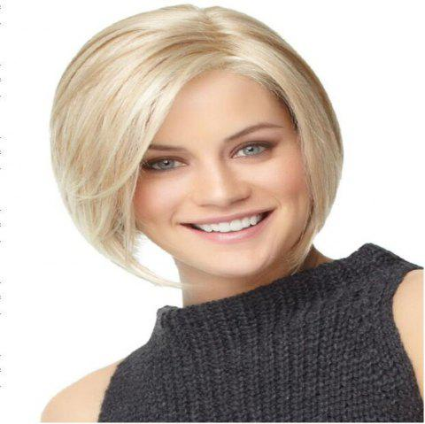 A Bobbed Wig for Women with Short Hair and A Straight Wig for Women - CHAMPAGNE GOLD 1 SET