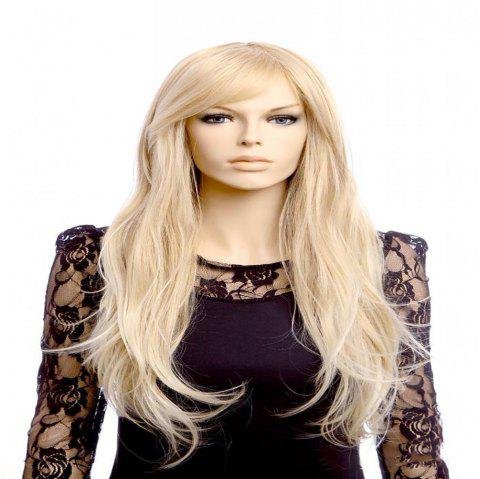 Animated Wig Blonde Wavy Wig for Women - CHAMPAGNE GOLD 1 SET
