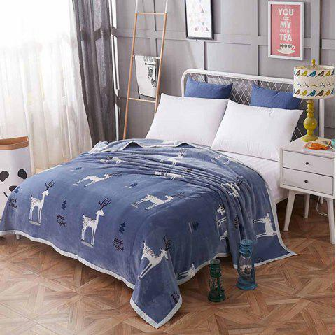 Thickened Flannel Blanket Reactive Printing  Comfortable Warm Soft - multicolor A 200 X 230 CM