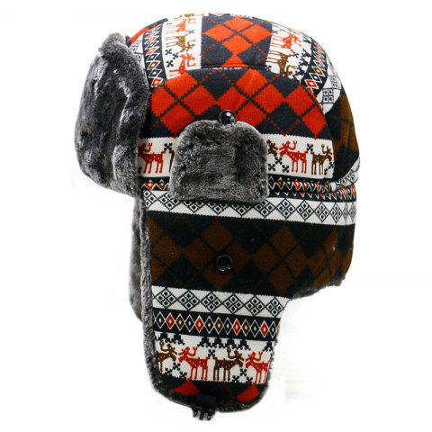 Winter plush Lei Feng hat female winter outdoor cycling windproof ear protection - RED