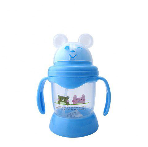 Baby's Drinking Cup 250MLCute Cartoon Animal Pattern Convenient Durable Bottle - BLUE