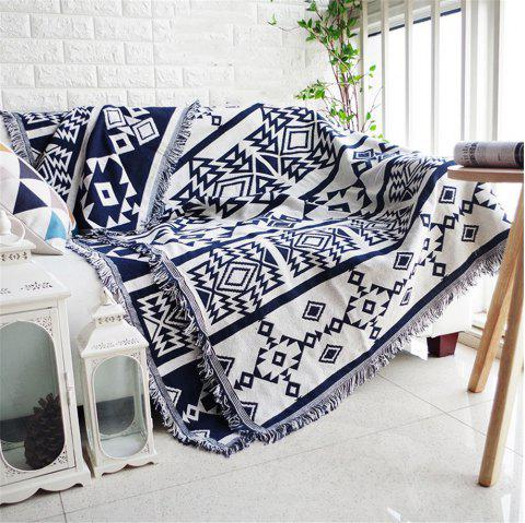 European Geometry Throw Blanket Sofa Decorative Slipcover Cobertor on Sofa Beds - multicolor A 90*90CM
