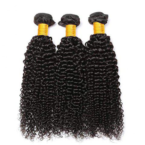 Curly Human Hair 3 Bundles 8A Brazilian Remy Kinky Curly Hair Extension - NATURAL BLACK 12INCH X 12INCH X 12INCH